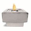 "9""  Square Silver Baltic Flamepot or Fire Pot by Pacific Decor"