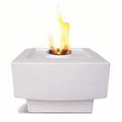 "9""  Square White Baltic Flamepot or Fire Pot by Pacific Decor"