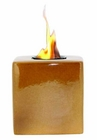 Amber Cube Flamepot or Fire Pot by Pacific Decor