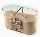 AMBER FIRELIGHT MEDIUM OVAL RibbonWick Scented Candle