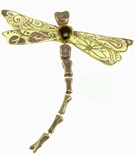Amethyst Jewel Dragonfly - Clayworks Studio Originals