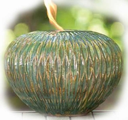 ARANI FIREPOT LARGE WAVE OCEANIC BLUE by BirdBrain