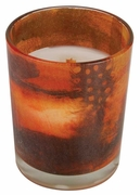 AUTUMN WOODS Decal Glass 13 oz WoodWick Scented Candle