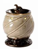 BAROQUE SPIRAL CREAM Fragrance Warmer - Wax Melter -  AmbiEscents