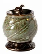 BAROQUE SPIRAL GREEN Fragrance Warmer - Wax Melter -  AmbiEscents