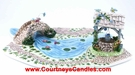 Base, Well & Bridge - Meadowlark Garden Village - Clayworks Blue Sky 2005