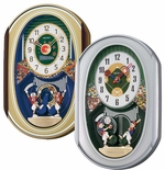 Baseball & Football Musical Clocks by Seiko