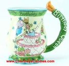 Birthday Queen Mug - Clayworks Blue Sky