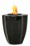 Black Fluted Flamepot or Fire Pot by Pacific Decor