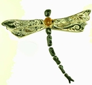 Black Jewel Dragonfly - Clayworks Studio Originals