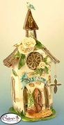 Blessings Church - Clayworks Studio Original by Heather Goldminc
