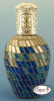 Blue & Silver Athens Mosaic Fragrance Lamp by Courtneys