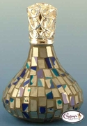 Blue & Silver Vienna Mosaic Fragrance Lamp by Courtneys