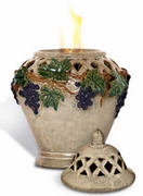 Bordeaux Flame Pot by Pacific Decor