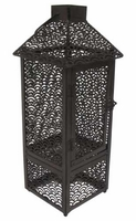 BROWN FLAME LANTERN (19 inch) Flamepot or Fire Pot by Pacific Decor
