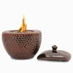 Brown LONGFIRE Flamepot or Fire Pot by Pacific Decor