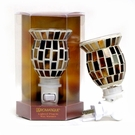 BROWN MOSAIC  Aromatique Plug In Fragrance Warmer - Wax Melter