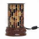 BROWN MOSAIC Aromatique Table Top Fragrance Warmer - Wax Melter