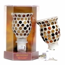 BROWN MOSAIC ROUND Aromatique Plug In Fragrance Warmer - Wax Melter