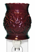 BURGANDY TAPESTRY PLUG IN WARMER  by A Cheerful Giver