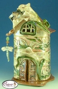 Calla Castle Candle House - Clayworks Studio Originals by Heather Goldminc