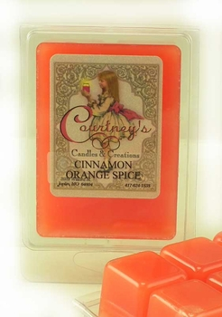 CINNAMON ORANGE SPICE Mixer Melt or Wax Tart by Courtneys Candles