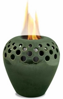 Classic Green Flame Pot or Fire Pot by Pacific Decor