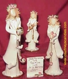 Clayworks Angels by Heather Goldminc