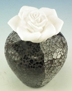 Courtneys Black Silver Mosaic Woman of Fragrance Style Flameless Ceramic Fragrance Diffusers