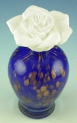 Courtneys Blue Gold Woman of Fragrance Style Flameless Ceramic Fragrance Diffusers