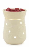 Cream Emboss ILLUMINATION Fragrance Warmer by Candle Warmers