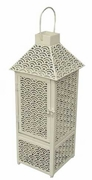 CREAM FLAME LANTERN (19 inch) Flamepot or Fire Pot by Pacific Decor