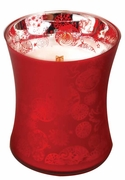 CRIMSON BERRIES  Medium Decor Glass WoodWick Scented Jar Candle