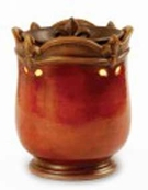CROWN FLEUR-DE-LIS RED Fragrance Warmer - Wax Melter -  AmbiEscents