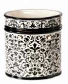 DAMASK BLACK Fragrance Warmer - Wax Melter -  AmbiEscents