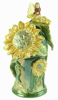 Dancing Sunflowers Fragrance Lamp House - Clayworks Limited Edition