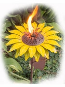 Desert Steel Garden Torches & Sculptures