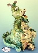 Dragon's Delight Figurine - Clayworks Studio Originals by Heather Goldminc