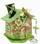Dragonfly's Cottage - Clayworks Studio Originals by Heather Goldminc