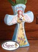 Easter Angel Vase - Clayworks Blue Sky 2006