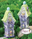 Easter Bunny Cottages Salt & Pepper - Clayworks Blue Sky 2006