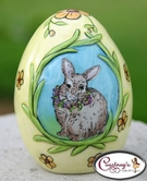 Easter Bunny Salt & Pepper Shaker - Clayworks Blue Sky 2006