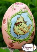 Easter Chick Salt & Pepper Shaker - Clayworks Blue Sky 2006