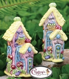 Easter Egg Hunt Bungalow Salt & Pepper Shakers - Clayworks Blue Sky 2006