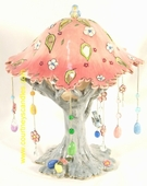Easter Tree T-Lite Holder  - Clayworks & Blue Sky