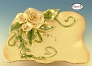 Elegance Rose Bowl - Clayworks Studio Originals by Heather Goldminc