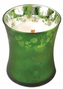 EMERALD FOREST  Medium Decor Glass WoodWick Scented Jar Candle