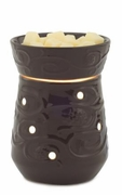 Espresso Emboss Round ILLUMINATION Fragrance Warmer by Candle Warmers