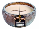 FLICKERING FIRESIDE LARGE ROUND RibbonWick Scented Candle