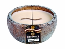 FLICKERING FIRESIDE MEDIUM ROUND RibbonWick Scented Candle